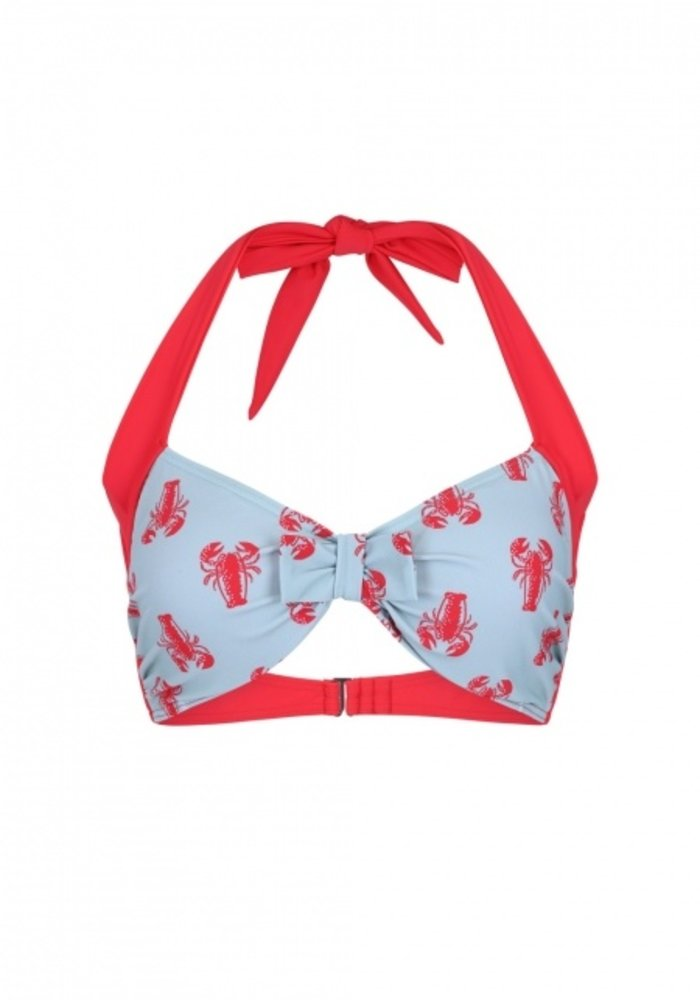 lobster love top de bikini