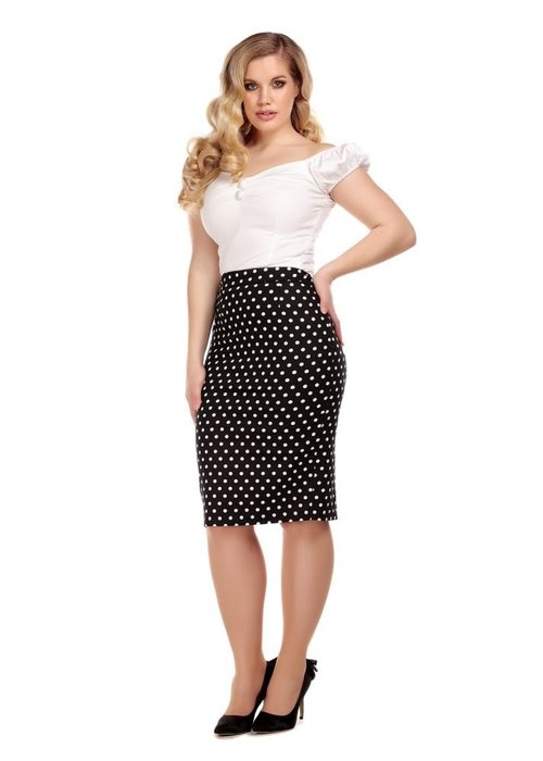 Collectif Polly Polka Dot + Noir Et Blanc 2XL