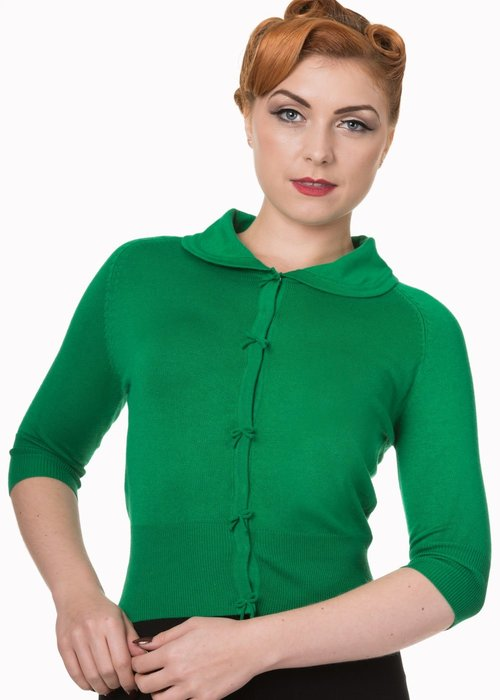 Banned Cardigan April Vert Pomme