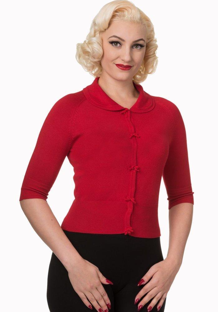 Red April Cardigan