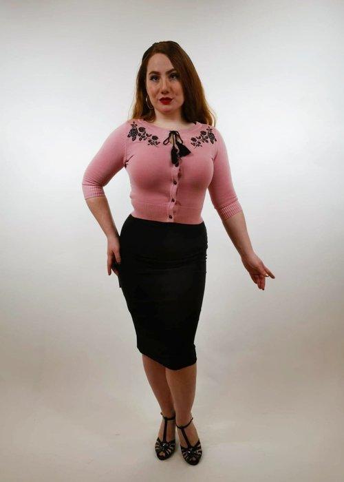 Collectif Cardigan Charlene rose