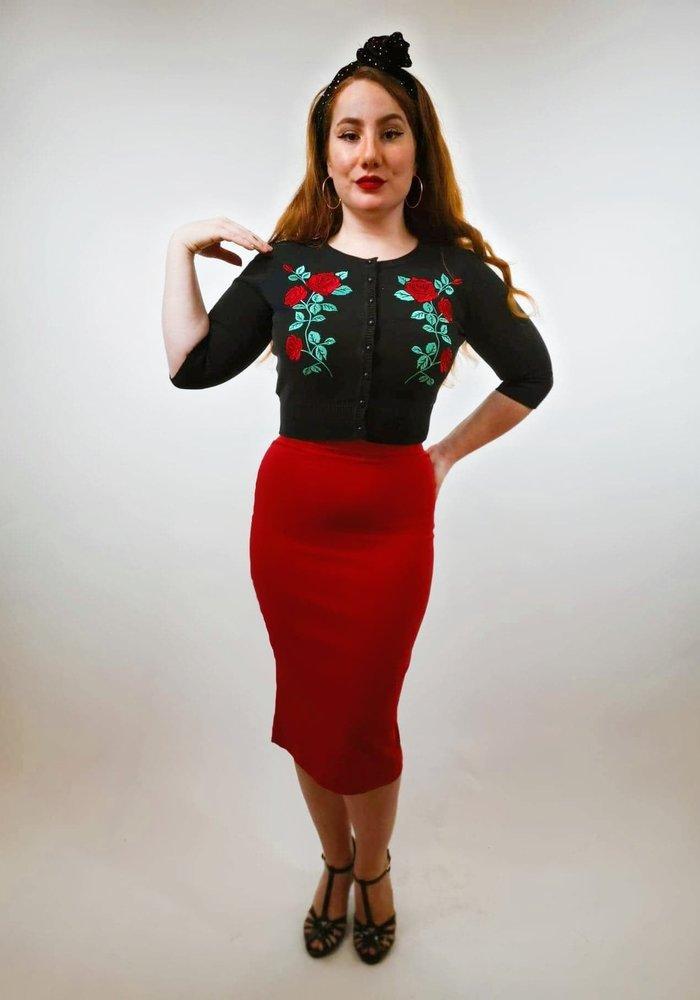 Cardigan Lucy Dark Rose