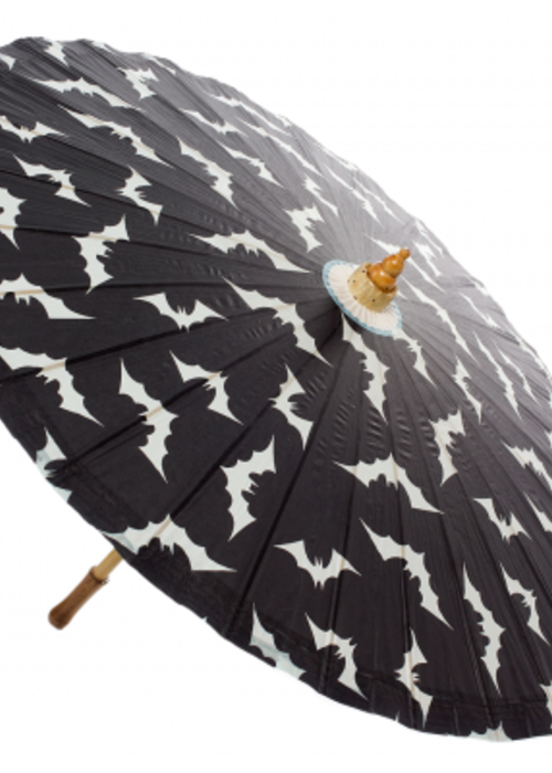 sourpuss Bats Black and White Umbrella