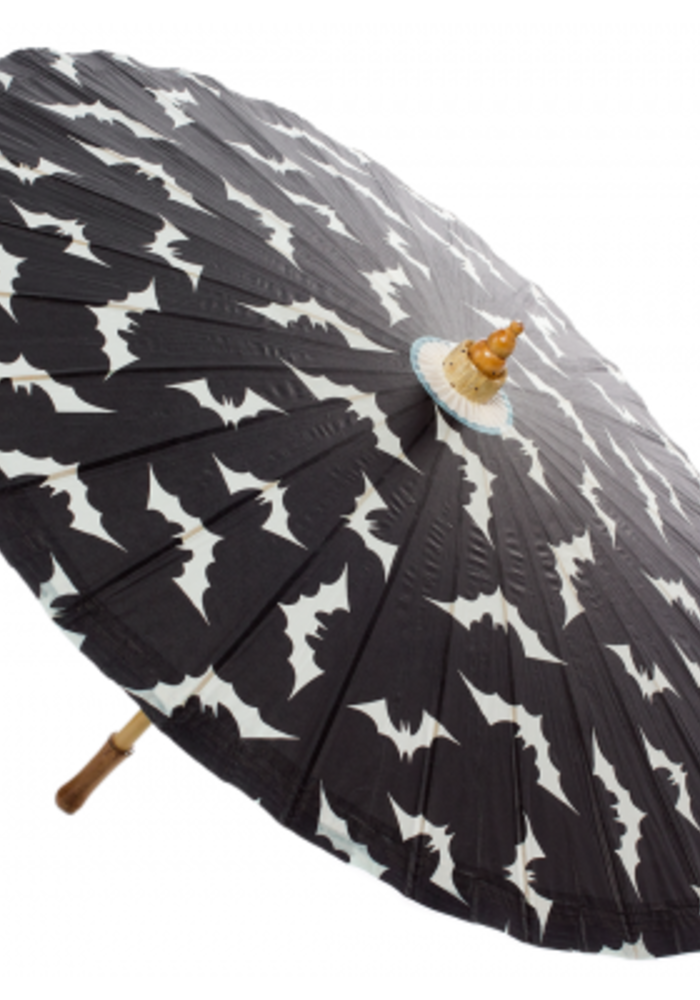 Parasol black and with bats