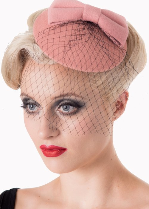 Banned Pink Candice Fascinator