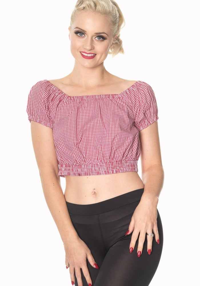All Mine Vichy Red Top