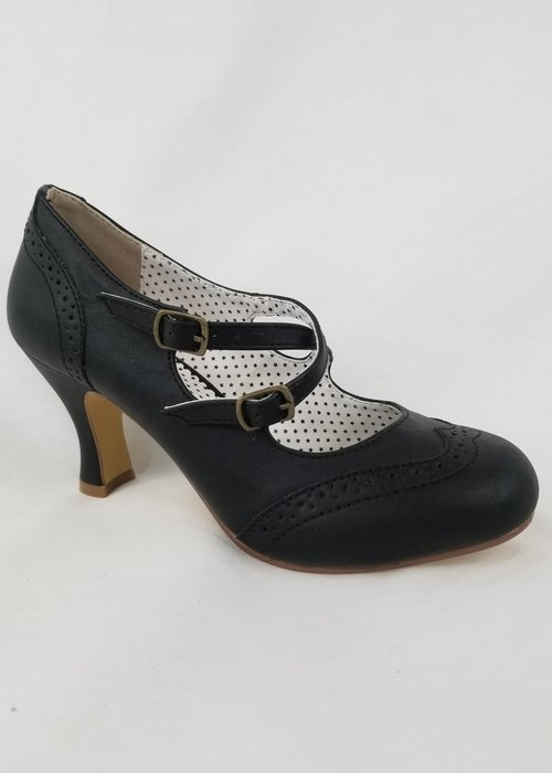 Pin-Up Couture Chaussure Flapper Noire