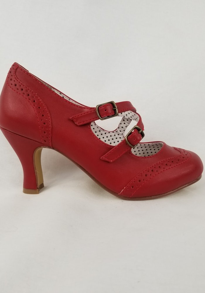 Chaussure Flapper Rouge