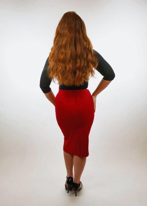Marina Vintage Jupe Lina Rouge