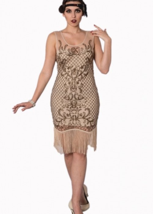 Banned Robe Flapper 20's Beige