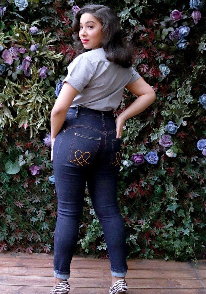 "Jeans Polly Bleu 27"" +"