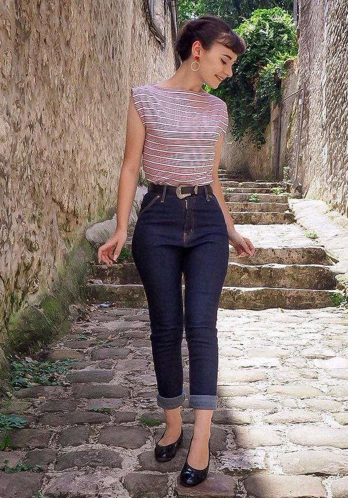 "Jeans Polly 27"" Bleu"