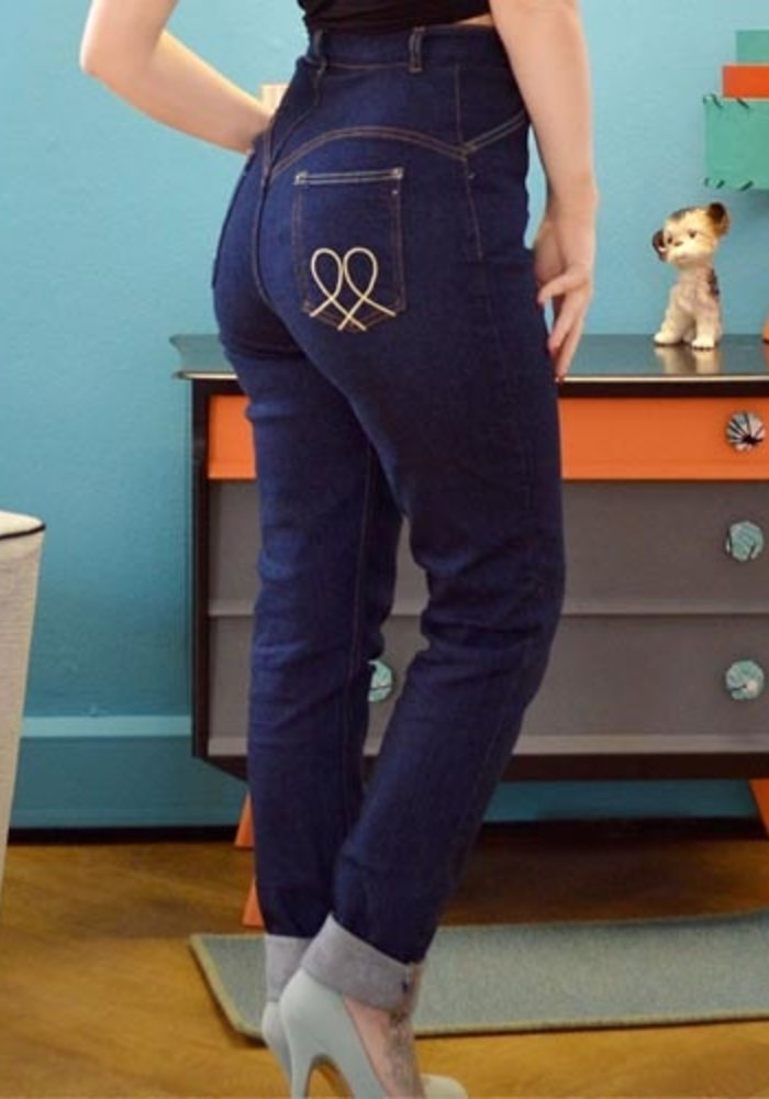 "Jeans Hug Me Baby 36"" Bleu"