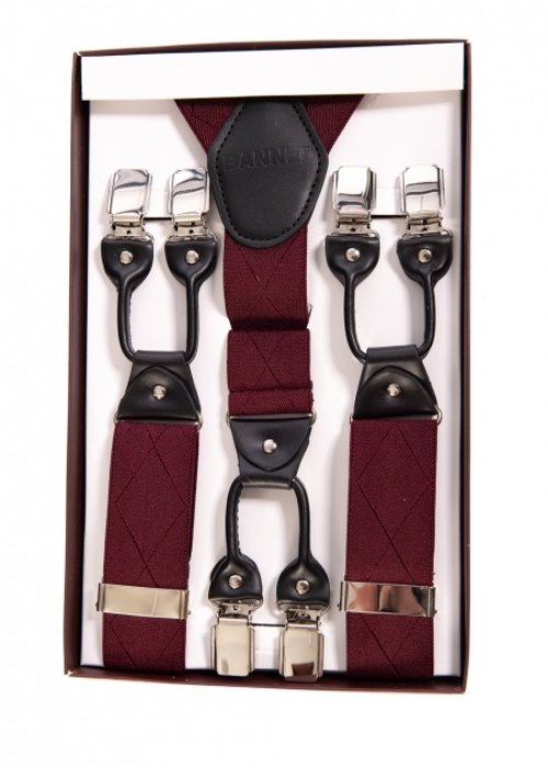 Banned Banned Burgundy Suspenders