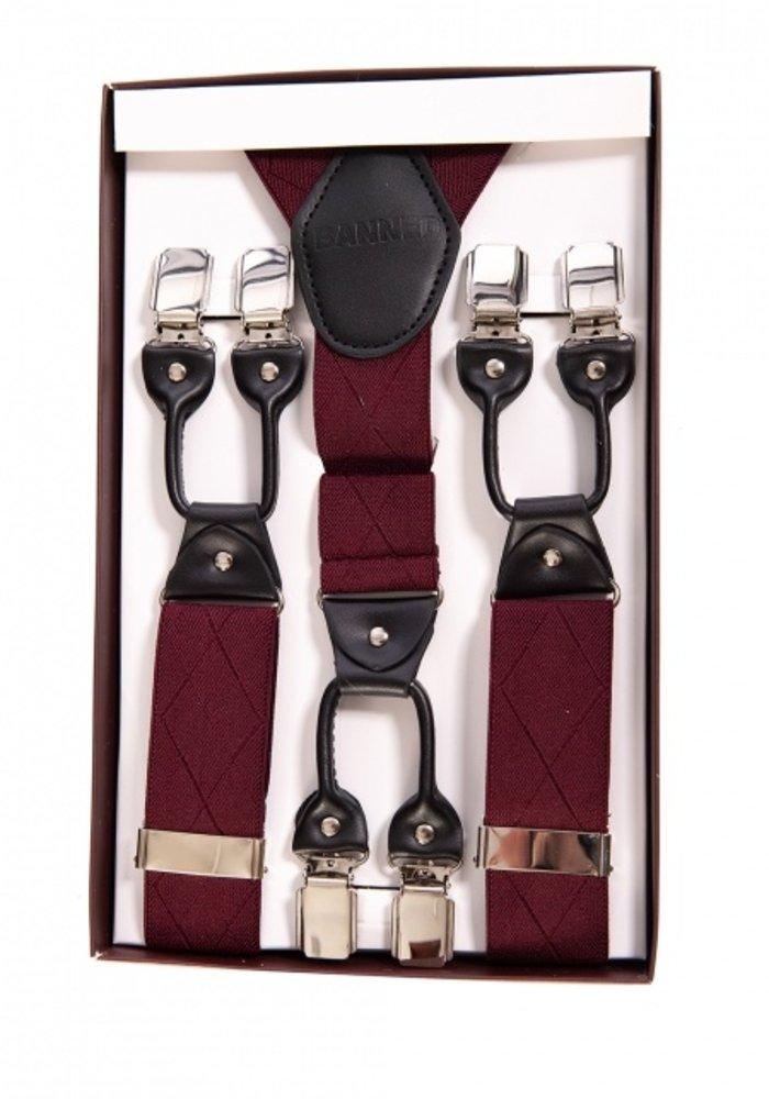Banned Burgundy Suspenders
