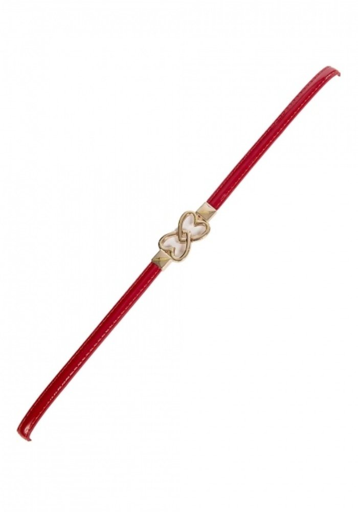 Big Heart Slim Red Belt One Size