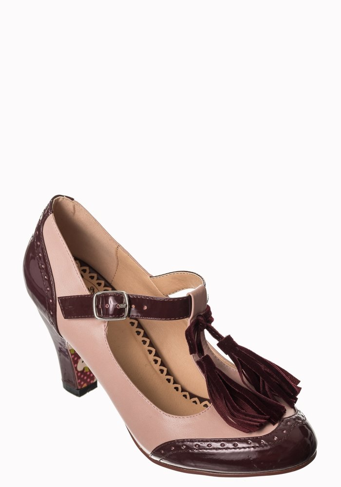 Chaussure Baby Loves That Way Bourgogne\Rose