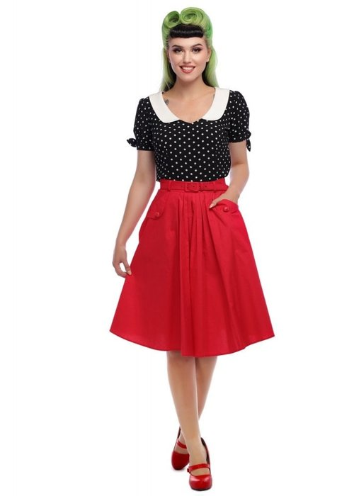 Collectif Red Dakota Skirt