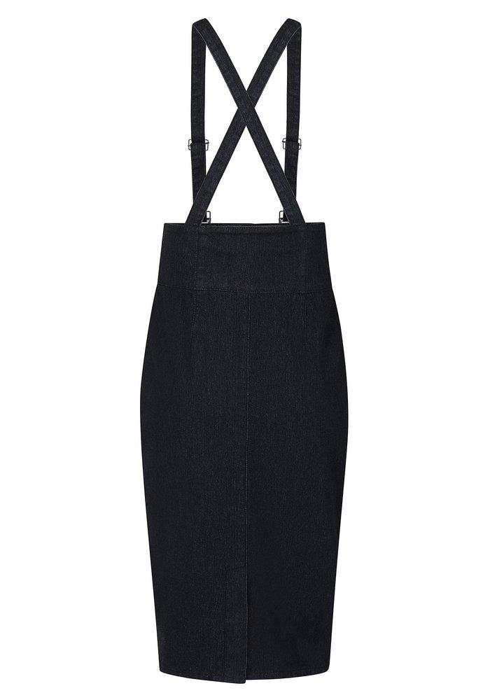 Nomi  Salopette Black Denim Skirt +