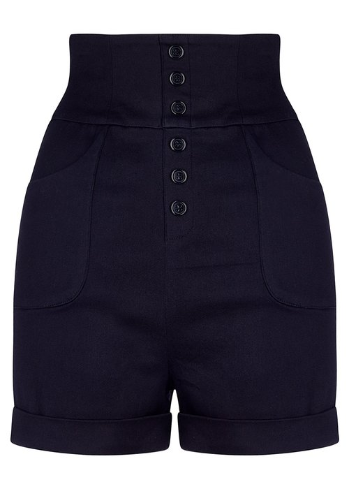 Collectif Nomi Plain Black Short +