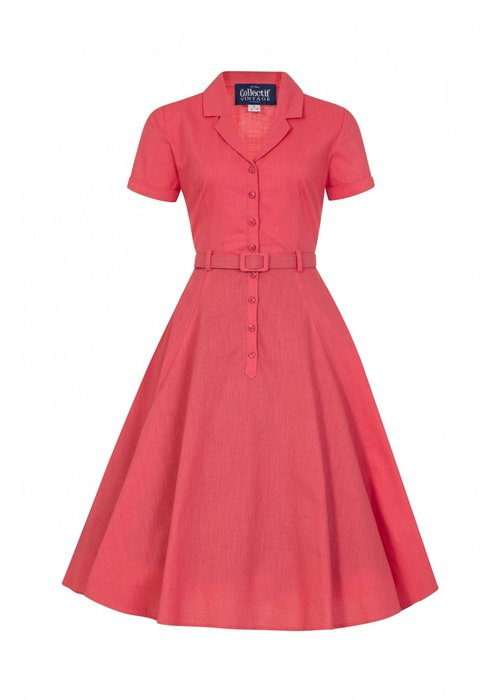 Collectif Caterina Vintage Coral Dress +