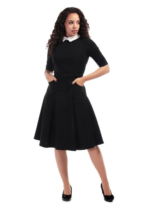 Collectif Winona Swing Black Dress