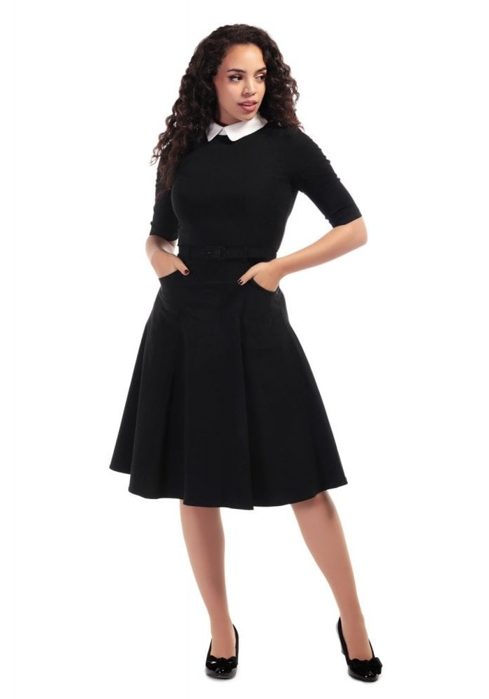 Robe Winona Évasée Noir