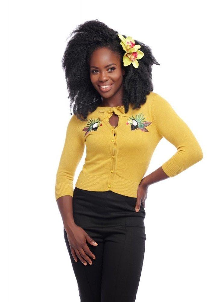 Cardigan Charlene Tropical Toucan Jaune +