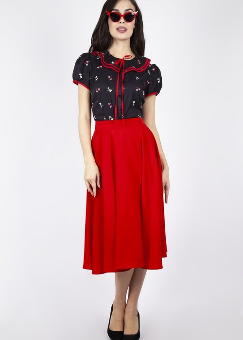 Voodoo Vixen Rosy Red Skirt