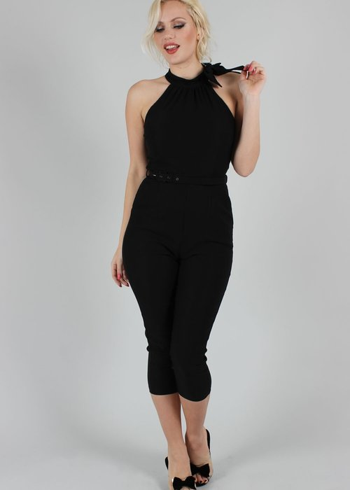 Voodoo Vixen Barbs Black Jumpsuit