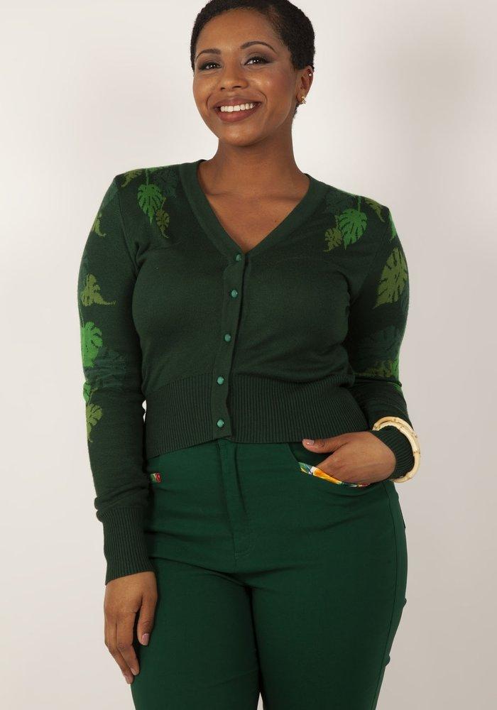 Green Leaf Cardigan