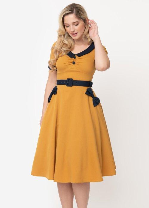 Voodoo Vixen Maryann Mustard Dress +
