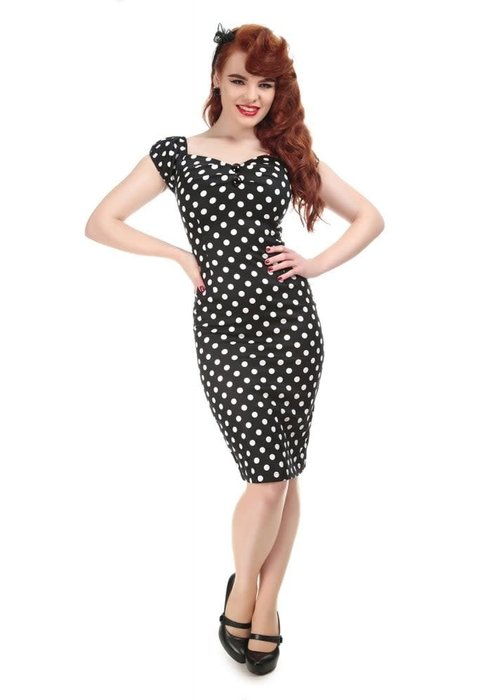Collectif Black Dolores Polka Dots Dress