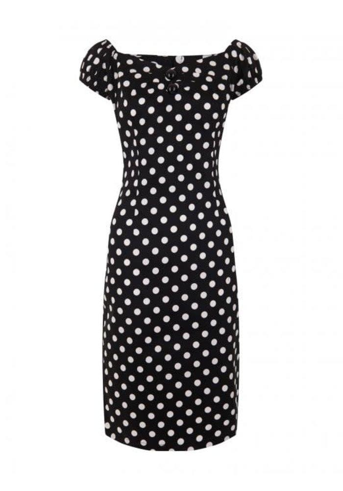 Black Dolores Polka Dots Dress