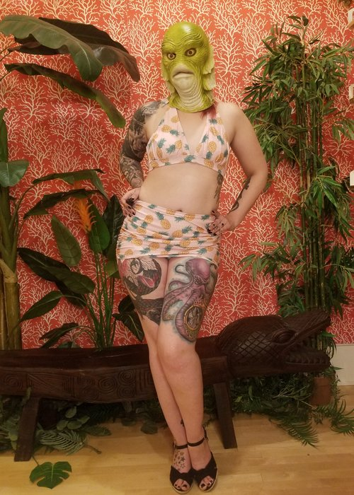 Collectif Top Bikini Ananas Rose