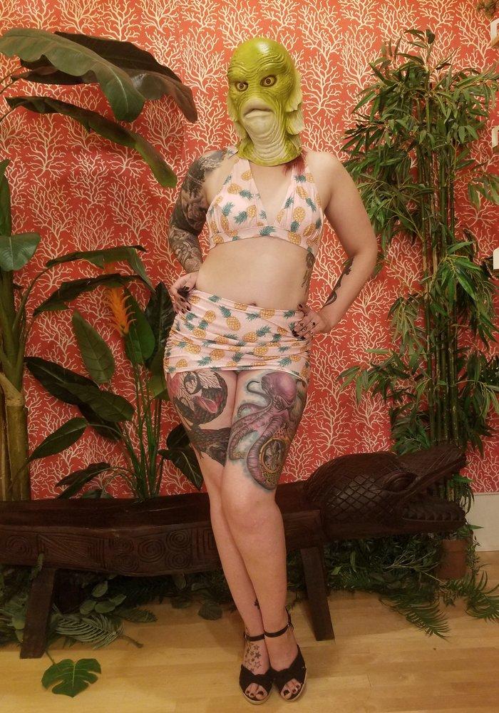 Top Bikini Ananas Rose