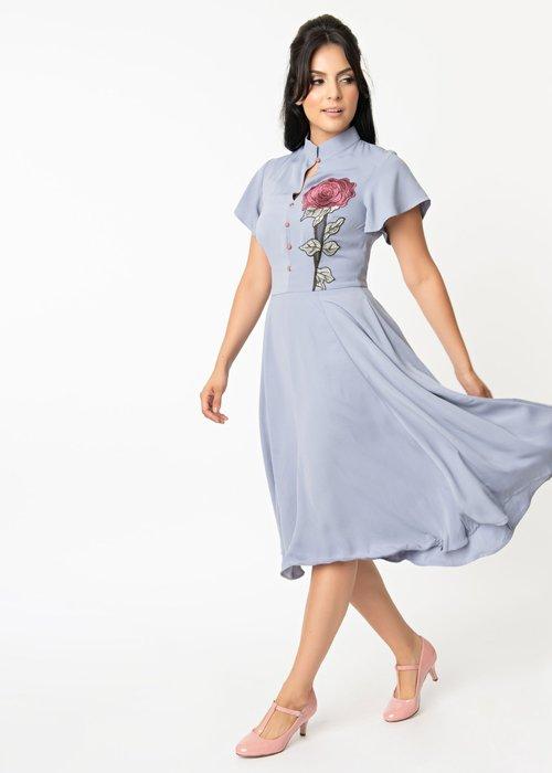 Unique Vintage Baltimore Lavender Dress