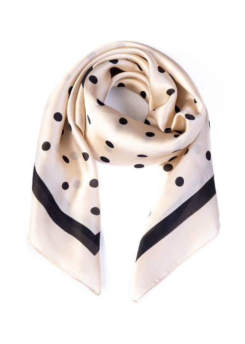 Banned Foulard Pearl Ivy Cream and Black