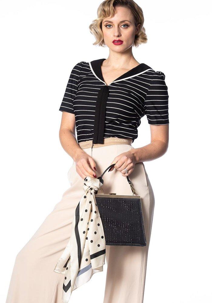 Foulard Pearl Ivy Crème et Polka Dots Noir