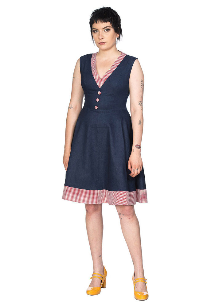 Diner Day Denim Dress+