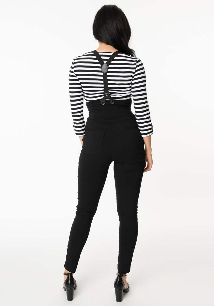 Pantalon Moorehead Noir À Bretelle