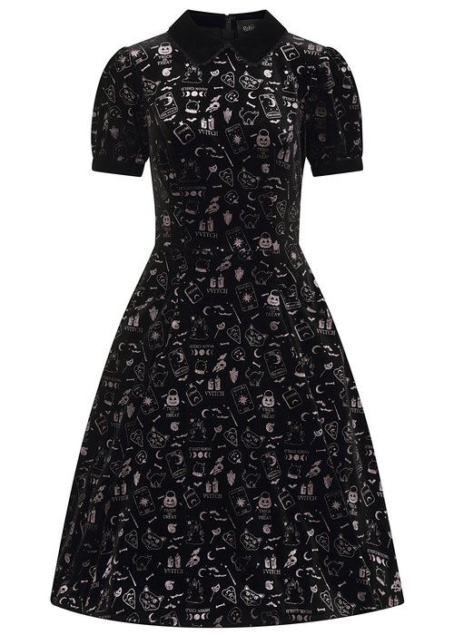 Collectif Peta Spooky Black Dress+