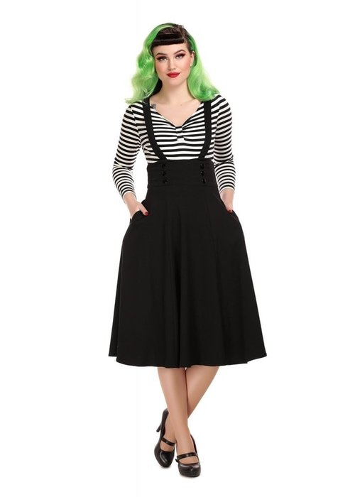 Collectif Black  Ronnie Swing Skirt