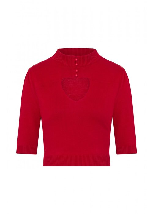 Collectif Top Shirley Jumper Rouge +