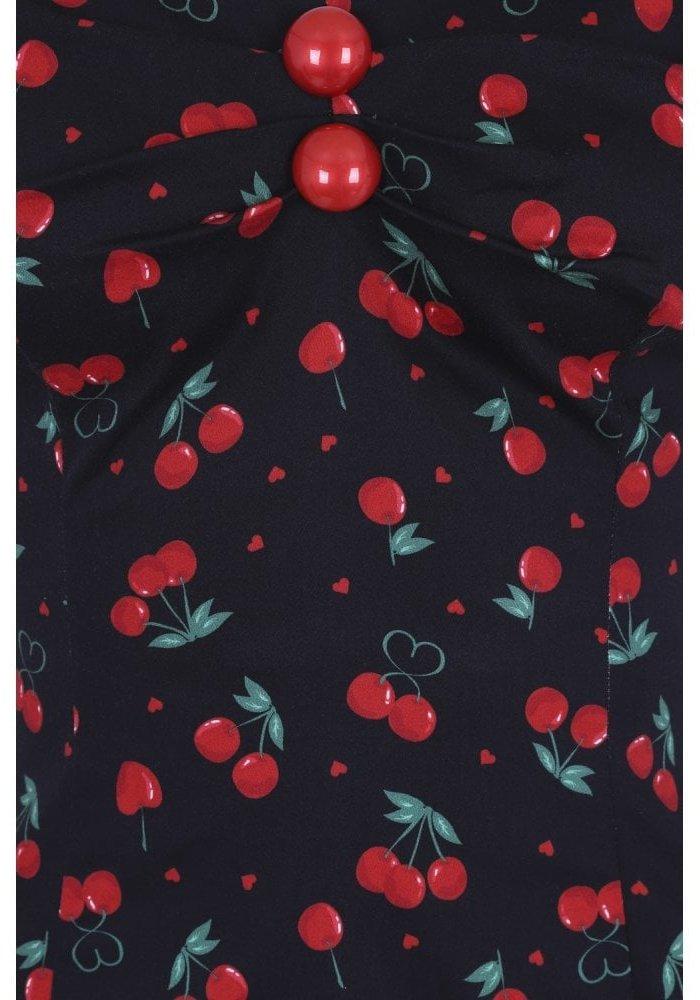 Top Dolores Cherry Love Noir