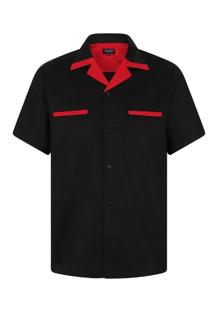 Chemise Donnie Bowling Noir & Rouge