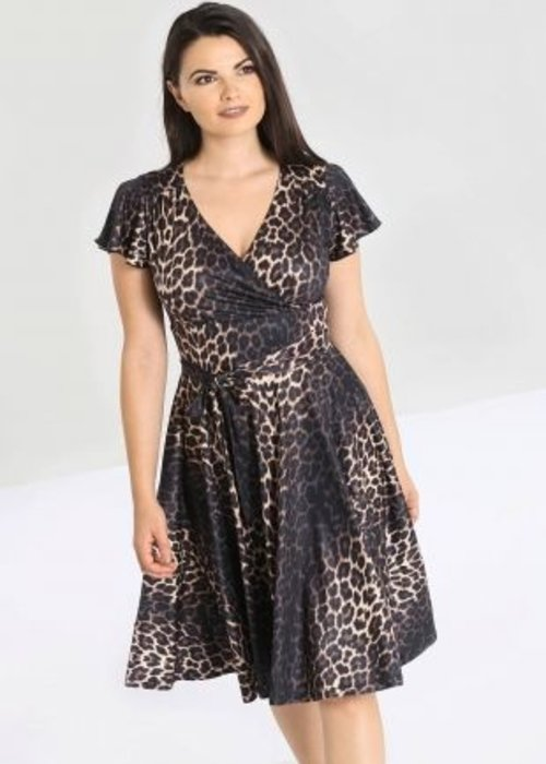Hell Bunny Eartha Leopard Dress