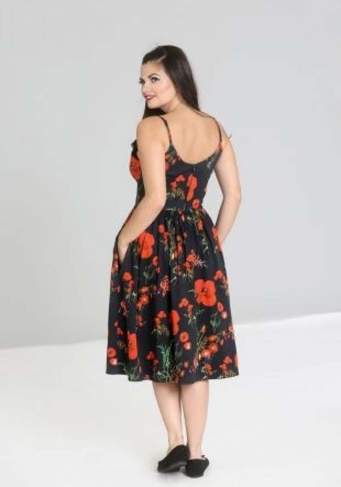 Poppy 50's Black Dress