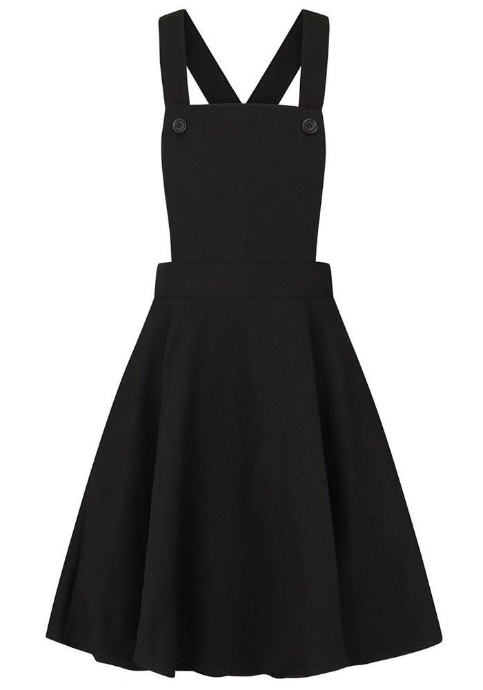 Amelie Pinafore Black Swing Dress