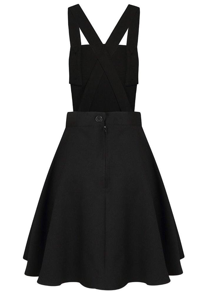 Robe Évasée  Amelie Pinafore Noire +